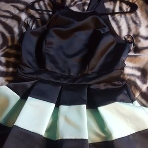 Striped Homecoming Dress